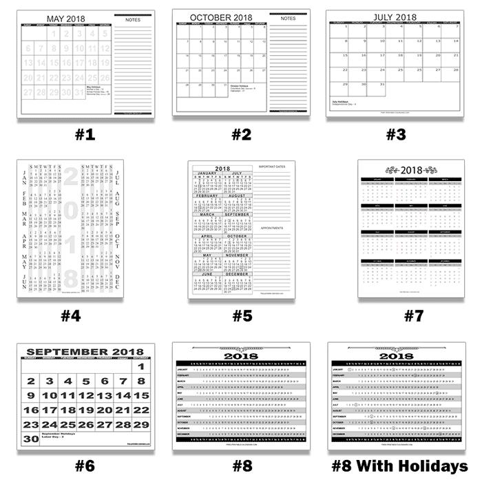 Free Printable Calendars - Calendars In Pdf Format For in 8 1/2 X 11 Blank Calendar Printable