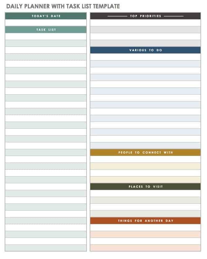 Free Printable Daily Calendar Templates | Smartsheet inside Printable Single Day Calendar