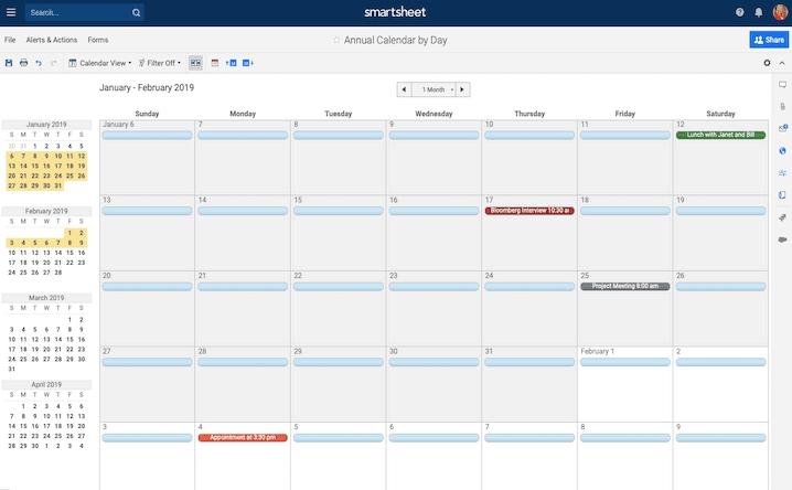 Free, Printable Excel Calendar Templates For 2019 & On in Agenda Calendario Excel