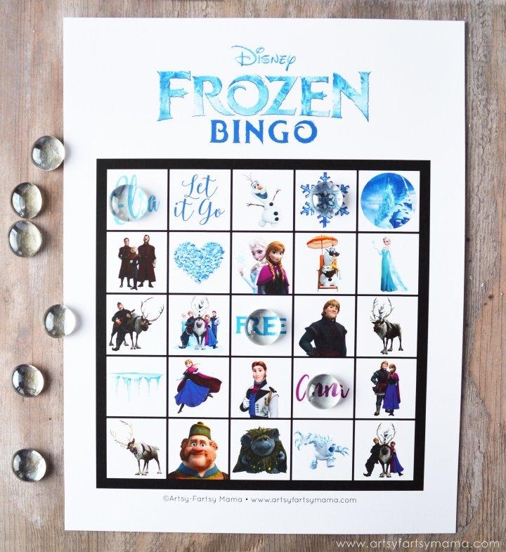 Free Printable Frozen Bingo | Artsy-Fartsy Mama with Print Out Frozen Printable Calendar Graphics