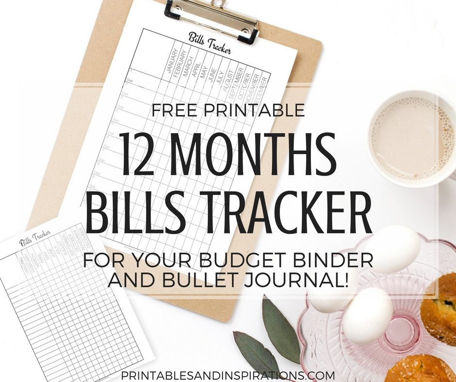 Free Printable Monthly Bills Tracker! - Printables And inside Free Printable A5 Monthly Bill Planner Pages Graphics