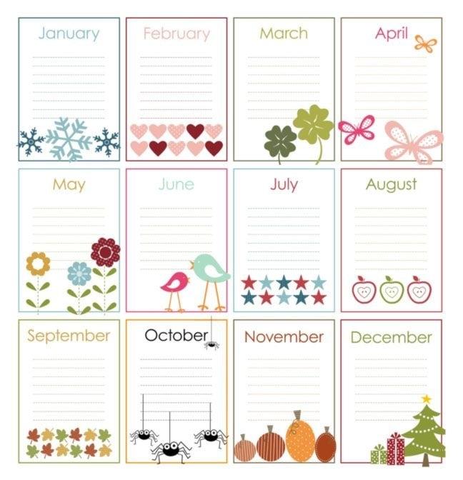 Free Printable Perpetual Calendars | Perpetual Birthday Calendar intended for Free Perpetual Calendar Chart