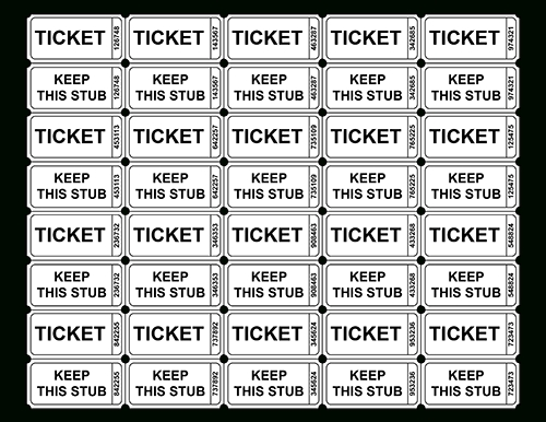 Free Printable Raffle Ticket Templates - Blank Downloadable with regard to Daily Number Lottery Fundraiser Tickets Photo