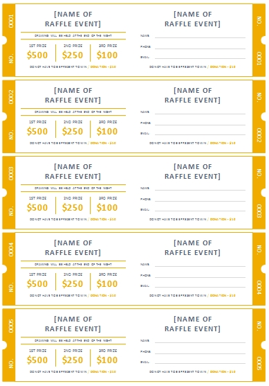 Free Printable Raffle Ticket Templates | Raffle Tickets within Lottery Ticket Fundraiser Template Image
