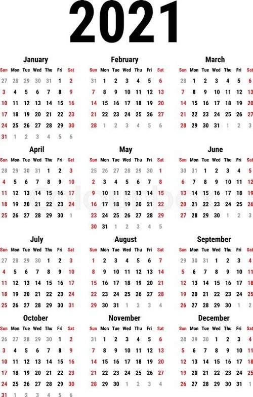 Free Printable Yearly Calendar 2021 Full Themes | Calendar with regard to 2021 Calendar Printable Free Pdf