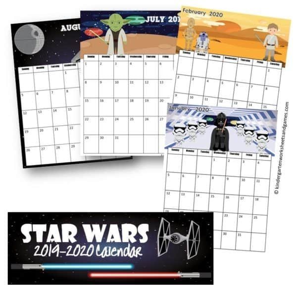 Free Star Wars Calendar 2019-2020 for Printable Star Wars Calendar Photo