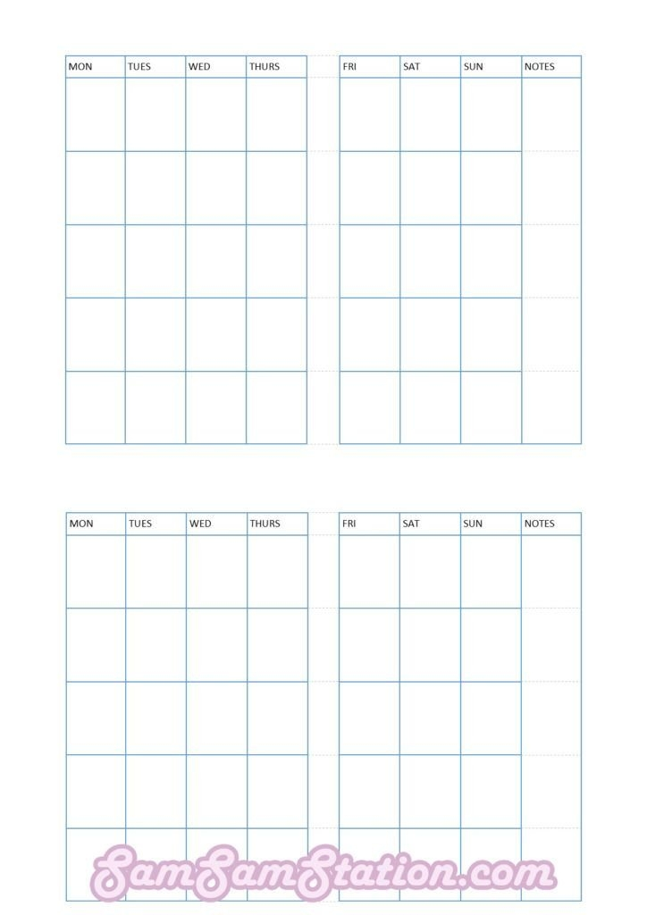Free Tn Pocket Insert: Month On Two Pages! | Diy Travelers throughout Small Pocket Size Calendar Booklet Free Template
