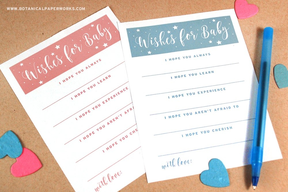 Freebie} Wishes For Baby Free Printables | Blog | Botanical within Free Printable Baby Prediction Calendar Graphics