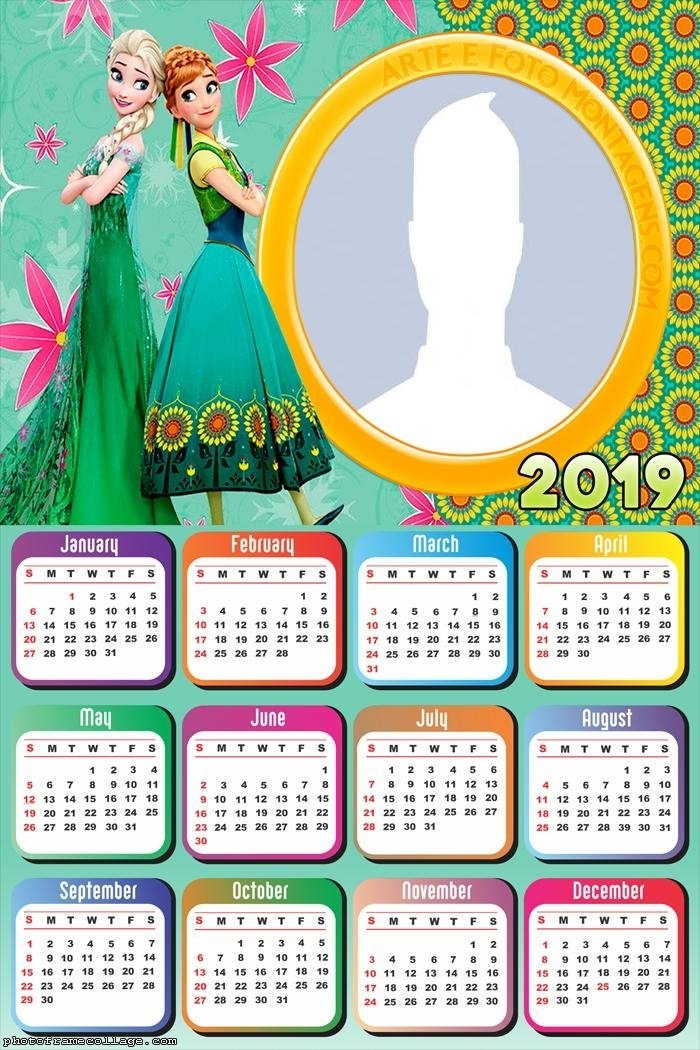 Frozen Fever 2019 Free Printable Calendar. - Oh My Fiesta regarding Print Out Frozen Printable Calendar Graphics