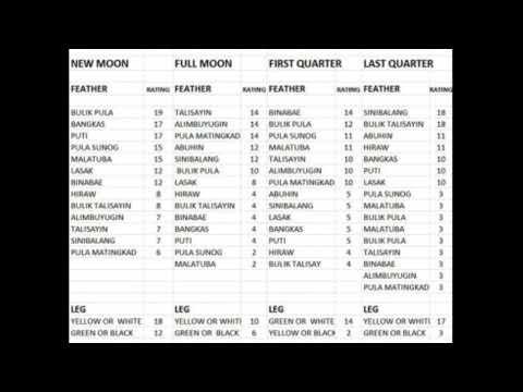 Gamefowl Luck Calendar - Youtube inside Calendar Code Visaya Sabong Graphics