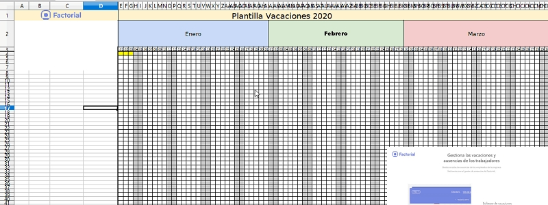 Gestión De Vacaciones De Empleados Con Excel [Plantilla 2020 with Calendario De Vacaciones Firma