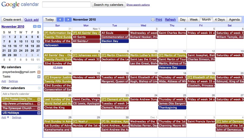 Google Liturgical Calendar For Catholics, Lutherans, And regarding Protestant Liturgical Calendar