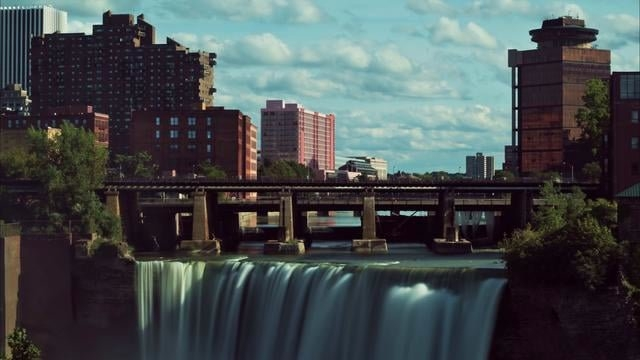 High Falls In Rochester, Ny Time-Lapse (Royalty Free Stock Footage) in Free Time Rochester Ny