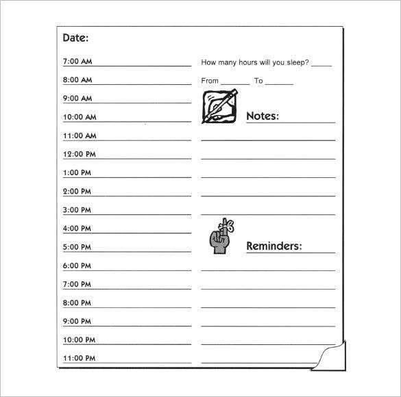 Hourly Schedule Template - 34+ Free Word, Excel, Pdf Format with Single Day Calendar Printable Image