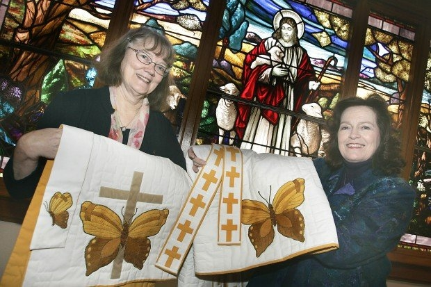 How A Trio Of Women Created A Matchless Gift For Their pertaining to Methodist Altar Paraments Color Changes Graphics