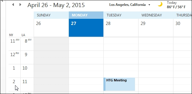 How To Add A Second Time Zone To Your Calendar In Outlook throughout Calendar  With Time Photo
