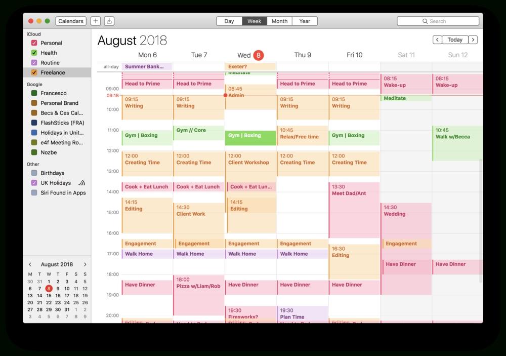 How To Calendar Block Your Week — Keep Productive regarding Calendar  With Time