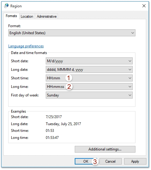 How To Change Outlook Calendar To Military Time (24-Hour Clock)? in Military Short Time Calendar