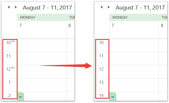 How To Change Outlook Calendar To Military Time (24-Hour Clock)? with regard to 60 Day Short Timer Calander Image