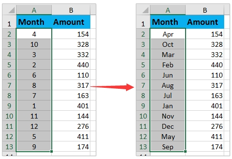 How To Convert 1-12 To Month Name In Excel? pertaining to Days Of The Year Numbered From 1 To 365 Photo