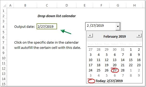 How To Create A Drop Down List Calendar (Date Picker) In Excel? inside Easily Insert Drop Down Calendar In Excel