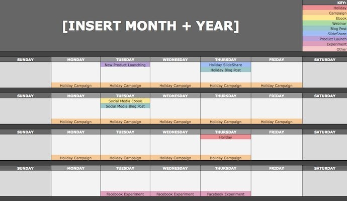 How To Create An Editorial Calendar [Examples + Templates] for Newsletter Content Calendar Template