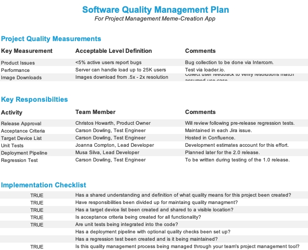 How To Develop A Quality Management Plan - The Digital pertaining to Project Management Plan Sample Document