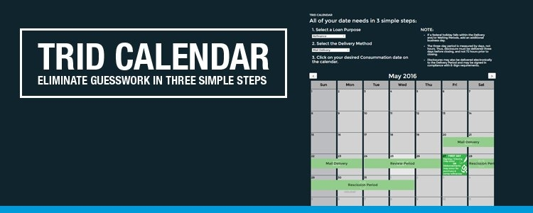 How To Eliminate Signing/consummation Date Guesswork – Ticor inside Closing Calendar Trid
