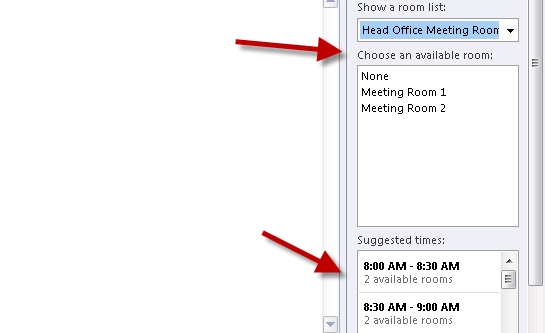 How To Find Available Meeting Rooms within Scheduling Meeting Rooms In Microsoft Outlook Photo