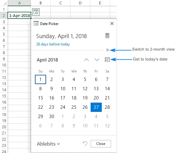How To Insert Calendar In Excel (Date Picker & Printable regarding How To Add A Calendar Drop Down In Excel