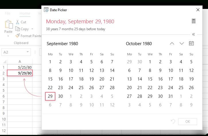 How To Insert Calendar In Excel (Date Picker & Printable regarding Printable Calendar Date Range Graphics