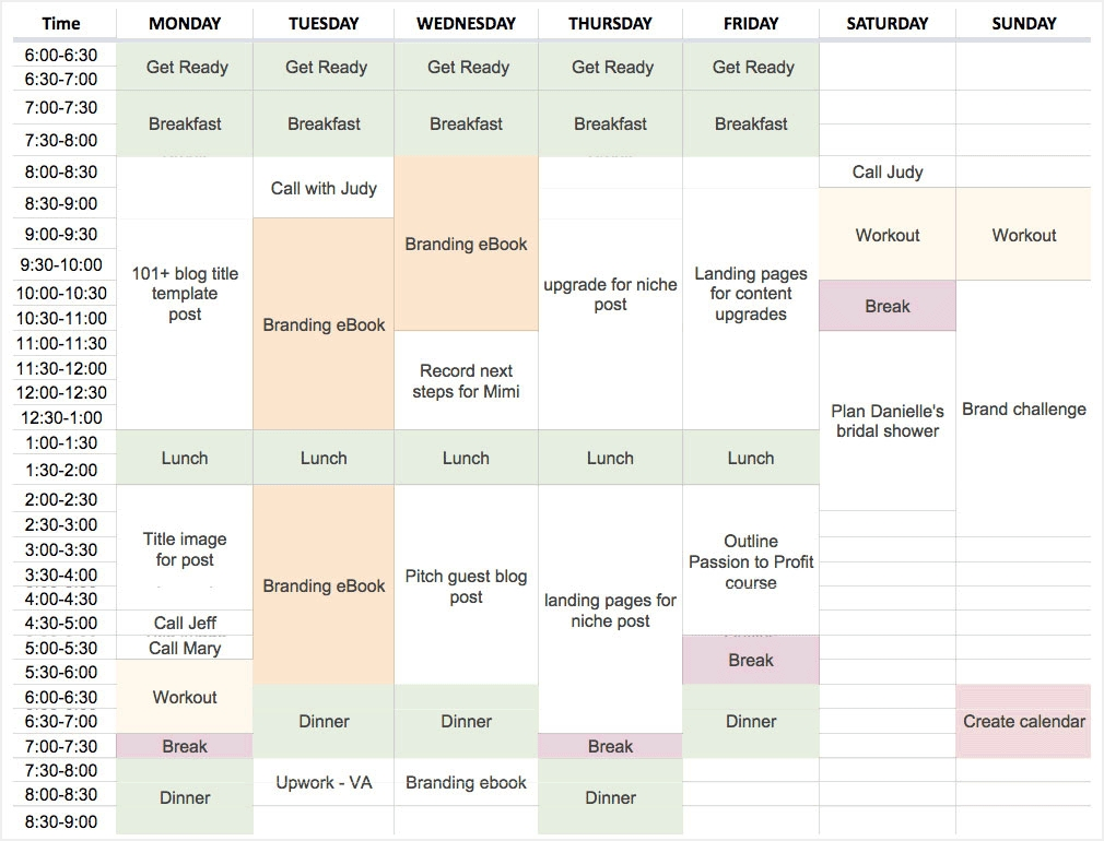 How To Plan Your Schedule With Time Blocking (With Template) for Free Calendar For Calendar Blocking Graphics