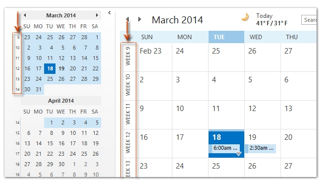 How To Show The Week Numbers In Calendar In Outlook? within Printable Calendar That Shows Each Day Numbered Out Of 365 Image