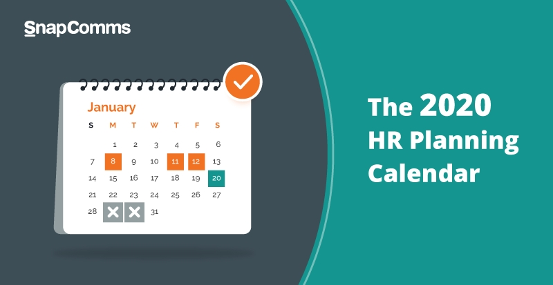 Hr Annual Planning Calendar 2020 – Free Download throughout Hr Calender Image