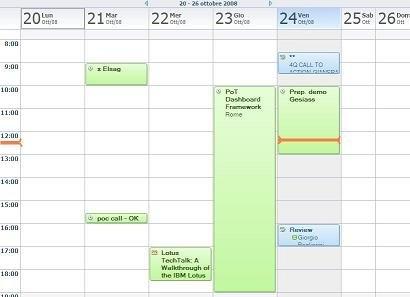 Ideajam - Calendar Current Time Visual Indicator inside Calendar  With Time