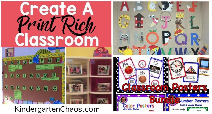 Ideas For Creating A Print Rich Environment In The Classroom inside Preschool Classroom Print Graphics