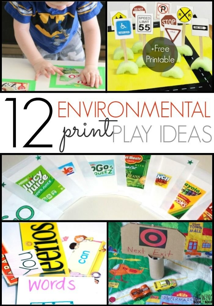 Ideas For Using Environmental Print | Environmental Print inside Preschool Classroom Print