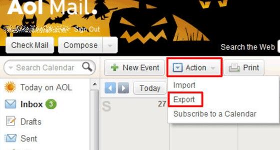Importing Your Aol Calendar To Outlook Calendar intended for Aol Calendar
