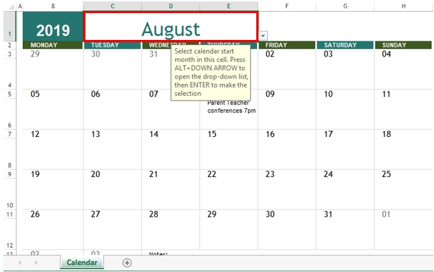 Insert Calendar In Excel | Examples To Create And Insert for Insert Calendar In Excel