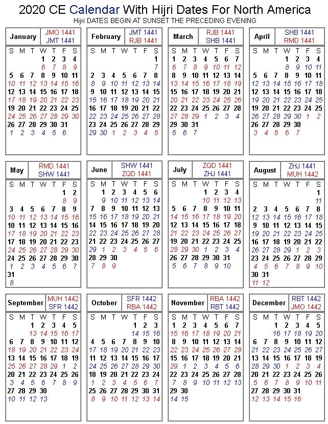 Islamic Calendar | Islamic Society Of Belleville in Hijri Calendar