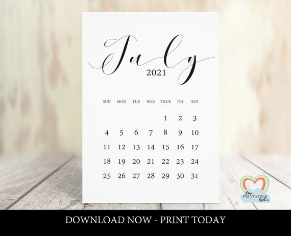 July 2021 Calendar Printable | Baby Due Date July 2021 | Pregnancy  Announcement July 2021 | Instant Download | Save The Date | Minimal with Make Your Own Baby Due Date Calendar