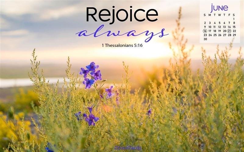 June 2019 - Rejoice Desktop Calendar- Free June Wallpaper throughout Free Christian Wallpaper Calendar