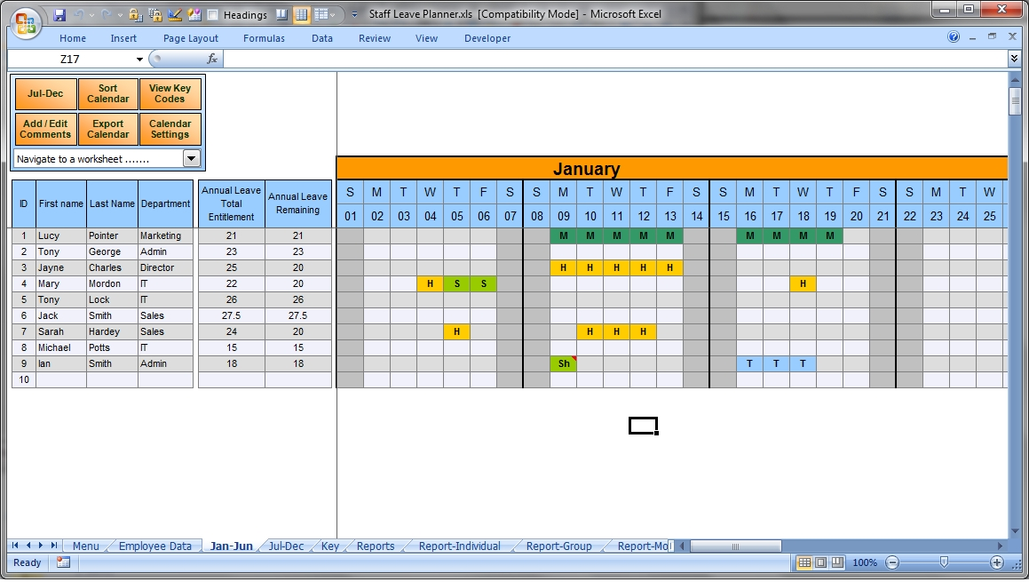 Leave Planner Template Manage Staff Leave With This Excel for Excel Calendar To Manage Staff