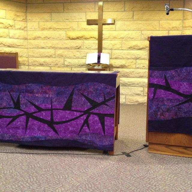 Lenten Paraments | Lent Decorations For Church, Church inside Schedule For Church Paraments For Methodist Church