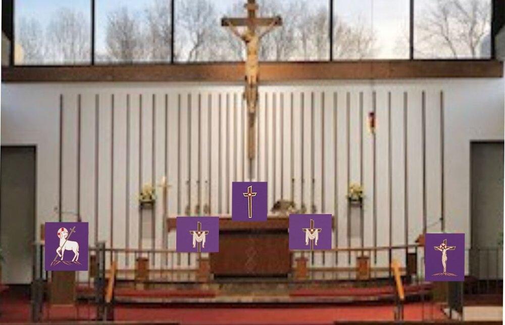 Lenten Paraments — Zion Lutheran Church within Altar Paraments Calendar Image