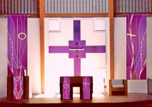 Lenten Sanctuary Collection | Banner Printing, Church with Paraments For Sanctuary Photo