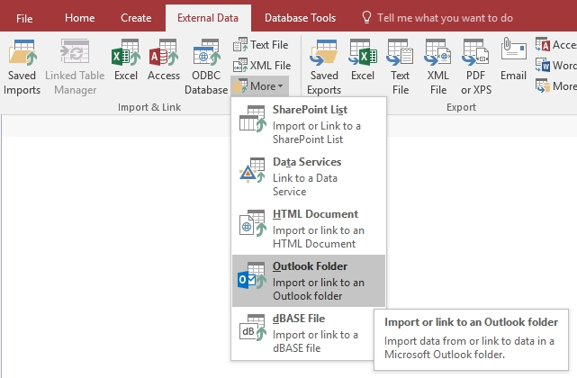 Link Microsoft Access Databases To Microsoft Outlook Inbox for Calendar With Access Database Graphics