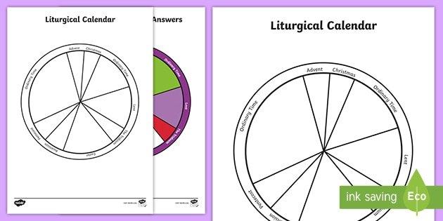 Liturgical Colours & Calendar Activity | Religious Education for Liturgical Calendar Craft Printable Photo