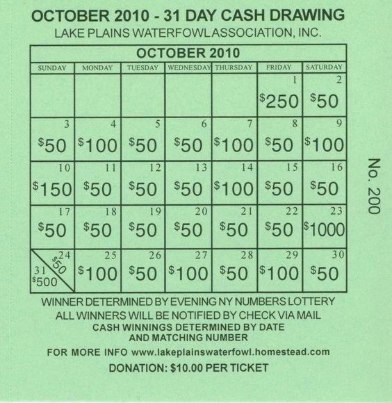 Lottery Calendar Fundraiser Template | Fundraising Calendar in Lottery Calendar Ideas Graphics