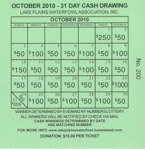 Lottery Calendar Fundraiser Template | Fundraising Calendar with Fundraising Lottery Calendars Graphics